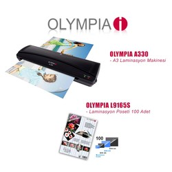 Olympia - Olympia A330 Laminasyon Makinesi + Karışık PVC Filmi